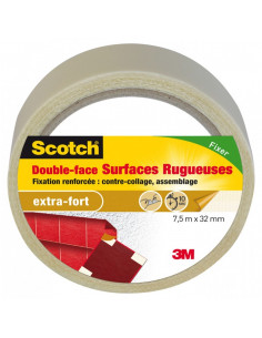 SCOTCH Double-face surfaces rugueuses 7.5m x 32mm