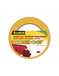 SCOTCH Double face surfaces rugueuses 20m x 50mm