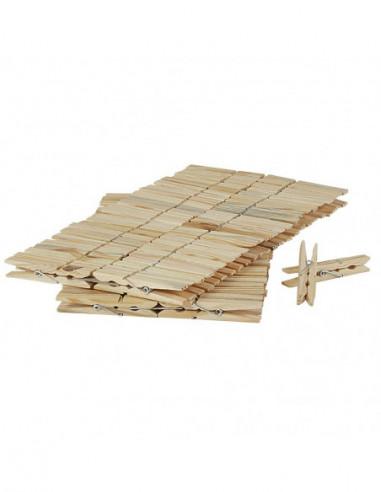 DIFFUSION Pince à linge en bois x96