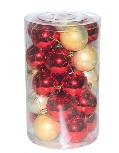 MARKET Set de 24 boules de Noël...