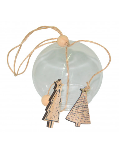 DIFFUSION Boule de Noël en verre - Ø7 cm