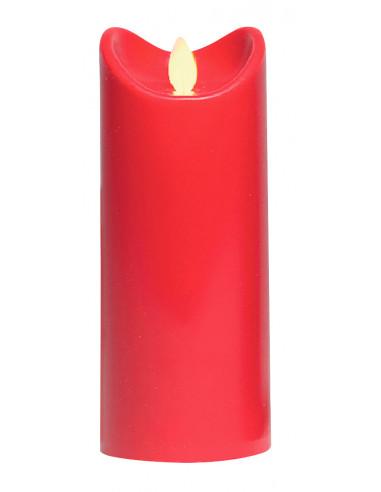 MARKET Bougie LED rouge - H.12,5 cm