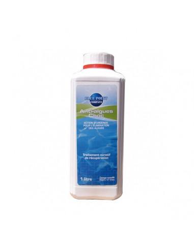Hydrapro anti algues choc liquide 1l hyper brico for Algues piscine ph