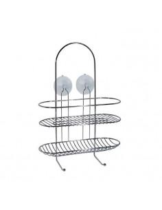 FRANDIS Valet de douche à ventouses chrome 30 x 11,5 x 42,5 cm