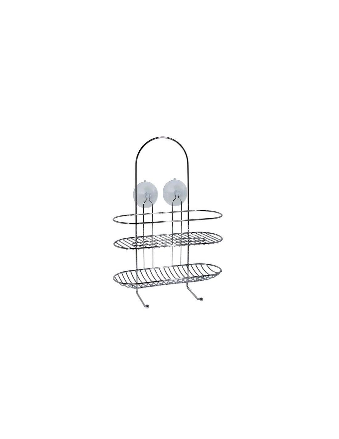 frandis valet de douche chrome ventouses 30x13x42cm hyper brico. Black Bedroom Furniture Sets. Home Design Ideas
