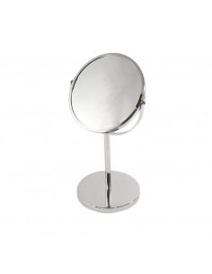 FRANDIS Miroir à poser 1 face grossissante métal chromé 22 x 2 x 39 cm