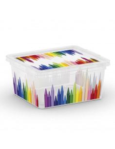 KIS Boîte de rangement plastique C BOX STYLE XXS Pencils 16,5 x 19,5 x 9,5 cm 2L