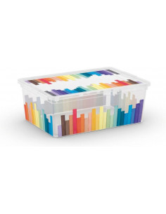 KIS Boîte de rangement plastique C BOX STYLE S Pencils 26 x 37 x 14 cm 11L