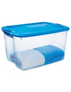 STERILITE Contenant bleu transparent 62L 66qt