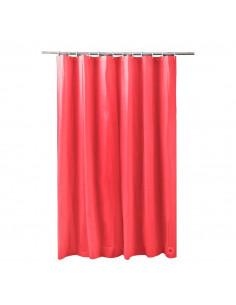 FRANDIS Rideau de douche peva rouge 180x200cm