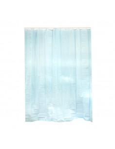FRANDIS Rideau de douche PVC bleu 183x183cm