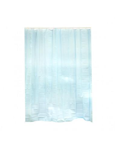frandis rideau de douche pvc bleu 183x183cm hyper brico. Black Bedroom Furniture Sets. Home Design Ideas