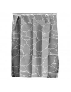 FRANDIS Rideau de douche polyester galet gris 180x200cm