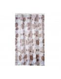 FRANDIS Rideau de douche polyester galet beige 180x200cm