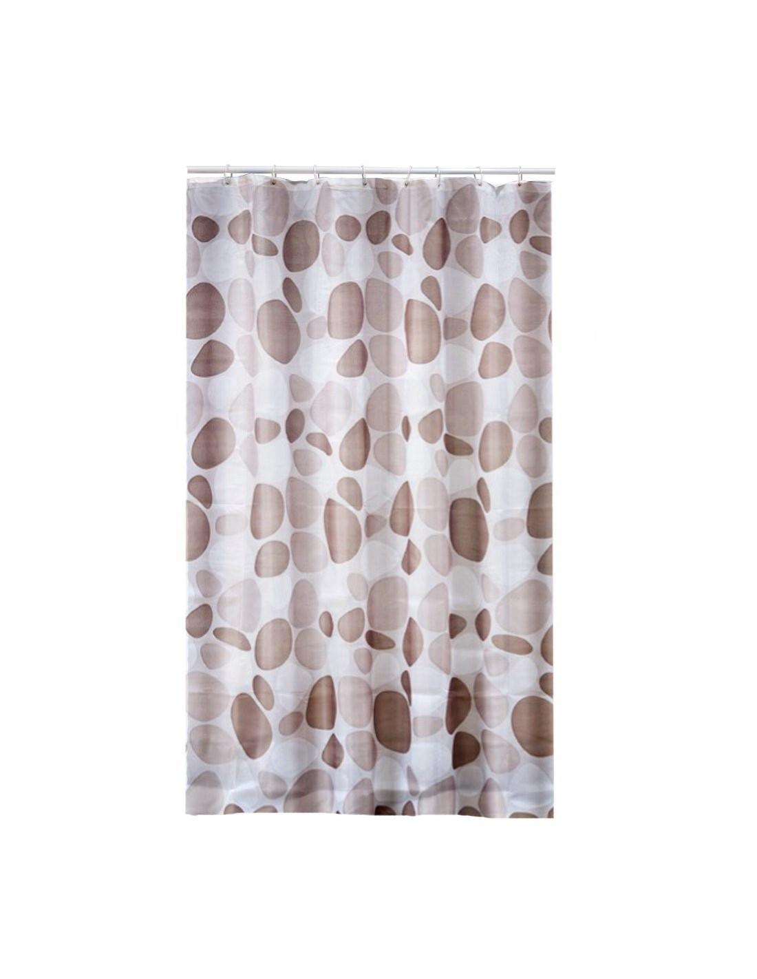 frandis rideau de douche polyester galet beige 180x200cm hyper brico. Black Bedroom Furniture Sets. Home Design Ideas