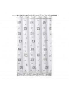 FRANDIS Rideau de douche polyester texte zen gris 180x200cm