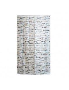 FRANDIS Rideau de douche polyester déco mots taupe 180x200cm