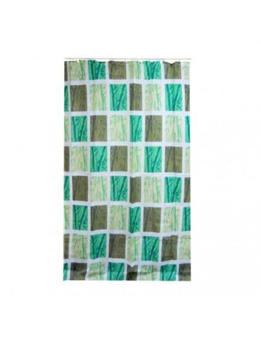 Frandis rideau de douche bambou mosa que 180x200cm hyper brico - Rideau de douche bambou ...