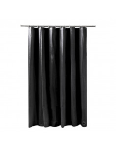 FRANDIS Rideau de douche peva métal noir 180x200cm