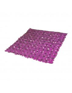 FRANDIS Fond de douche antidérapant PVC 52x52cm translucide/aubergine