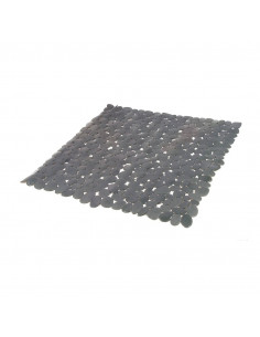FRANDIS Fond de douche antidérapant PVC 52x52cm translucide/gris