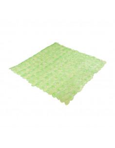 FRANDIS Fond de douche antidérapant PVC 52x52cm translucide/vert