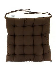 DOUCEUR D'INTERIEUR Assise essentiel 40x40cm polyester chocolat