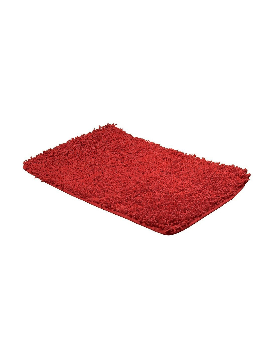 frandis tapis de bain maille chenille coton rouge 50x80cm. Black Bedroom Furniture Sets. Home Design Ideas