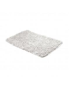 FRANDIS Tapis de Bain Maille Chenille/Coton Blanc 50x80cm