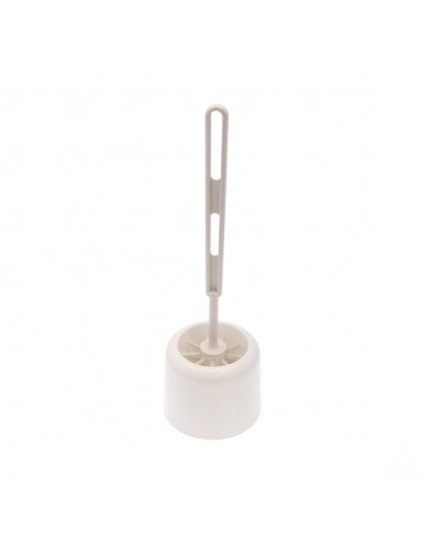 Frandis Pot À Balai + Brosse Wc Blanc Ø 11 X 35 Cm - Hyper Brico