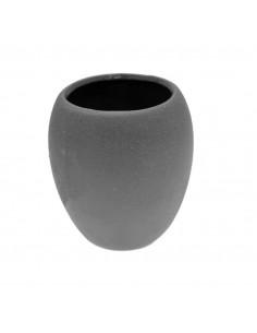 FRANDIS Gobelet Polyrésine Argenté 7,5 x 7,5 x 10 cm