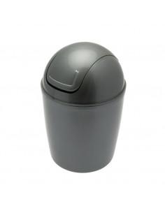 FRANDIS Mini-Poubelle de Salle de Bain Plastique Argenté 1,3 L 12,5 x 12,5 x 19 cm