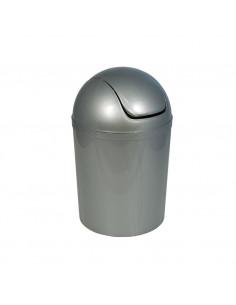 FRANDIS Poubelle à Boule Plastique Argenté Ø 19 X 31 cm
