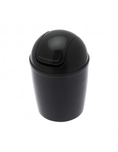 FRANDIS Mini Poubelle De Salle De Bain Plastique Noir 1,3 L 12,