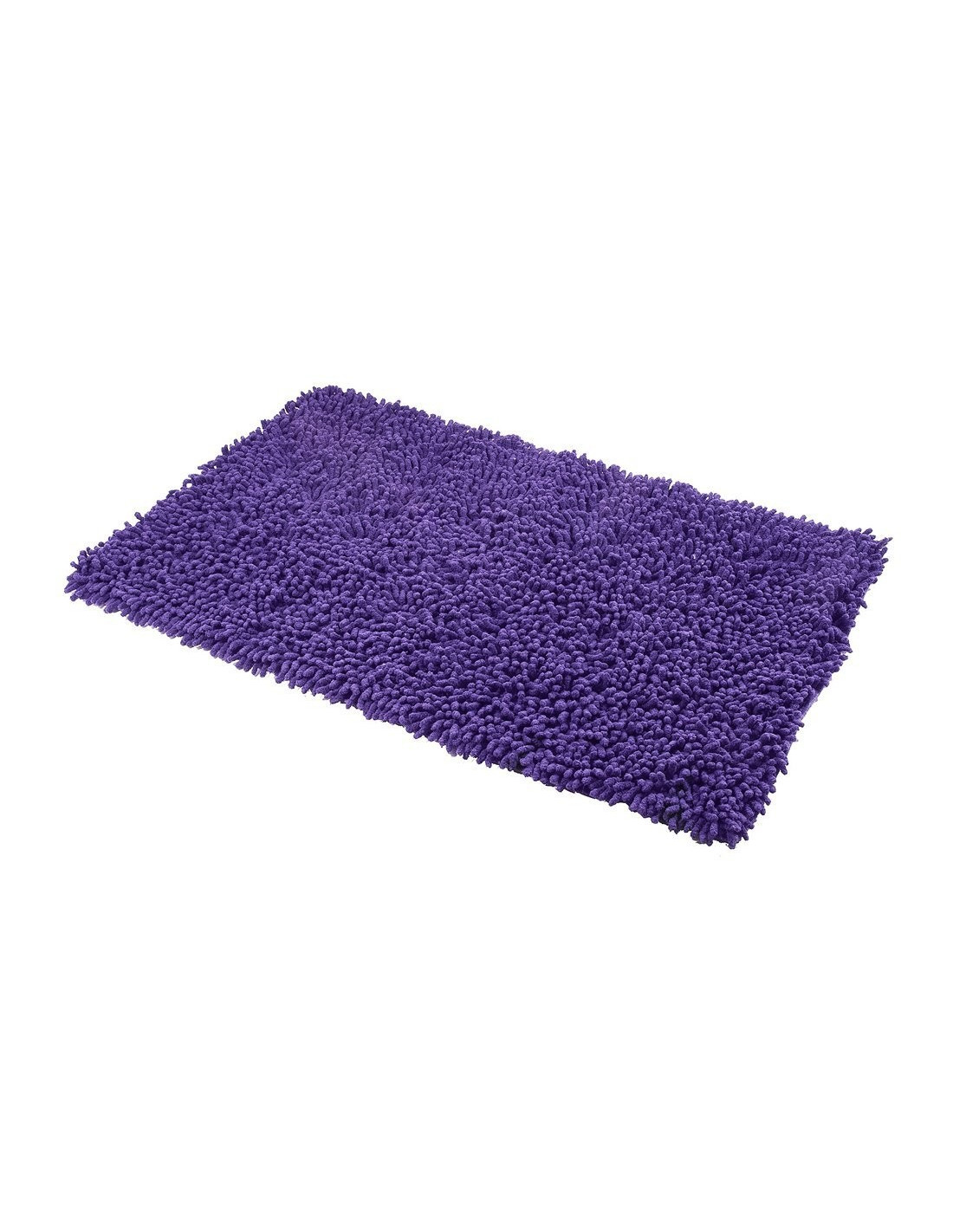 frandis tapis de bain maille chenille coton aubergine 50 x 80 cm hyper brico. Black Bedroom Furniture Sets. Home Design Ideas