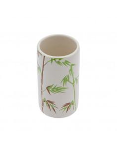 FRANDIS Gobelet Décoration Tiges Céramique/Bambou 6 x 6 x 11 cm