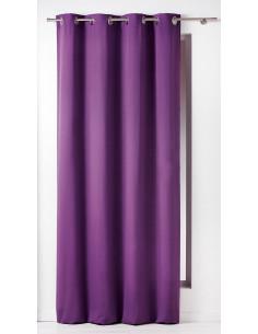 DOUCEUR D'INTERIEUR Rideau avec Œillets Panama Coton Prune 140 x 240 x 240 cm