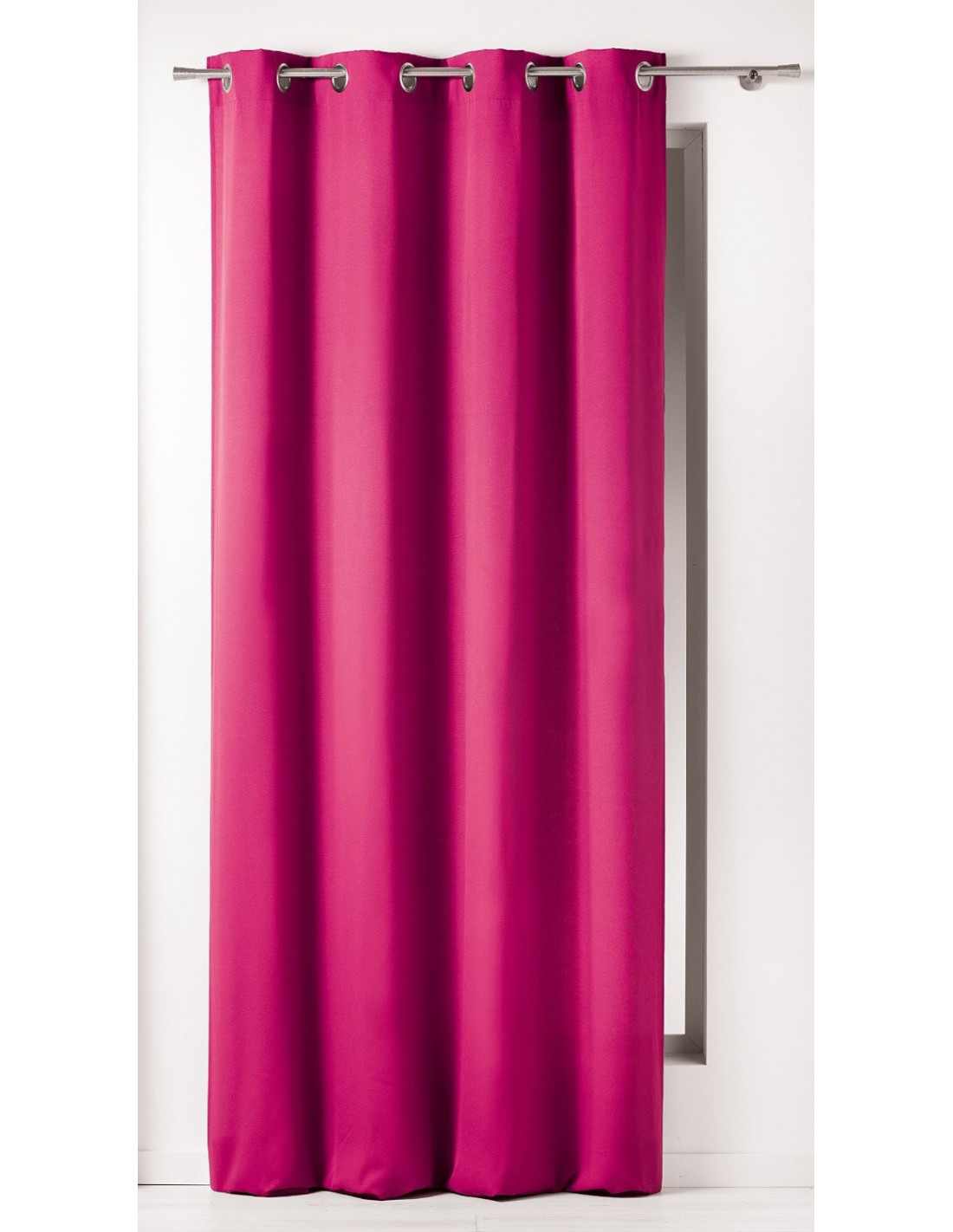 douceur d 39 interieur rideau avec illets panama coton rose 140 x 240 x 240 cm hyper brico. Black Bedroom Furniture Sets. Home Design Ideas