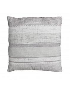 DOUCEUR D'INTERIEUR Coussin Panama Coton Polyester/Coton Naturel imprimé 60 x 60 cm
