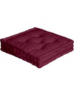 ENJOY HOME Coussin de sol avec poignée 50 x 50 x 10 Prune Coton