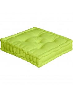 ENJOY HOME Coussin de sol avec poignée 50 x 50 x 10 Anis Coton