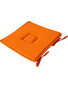 DECOSTARS Galette de Chaise Coton 40 x 40 cm Orange