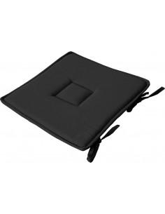 DECOSTARS Galette de Chaise Coton 40 x 40 cm Noir