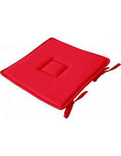 DECOSTARS Galette de Chaise Coton 40 x 40 cm Rouge