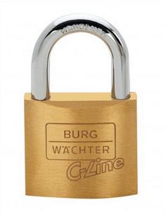 BURG WACHTER Cadenas à cylindre laiton anse acier 222 C 50 SB