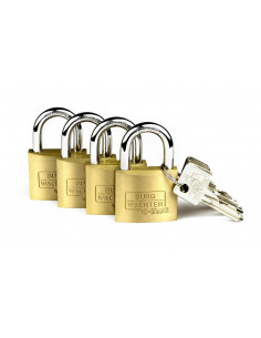 BURG WACHTER Cadenas à cylindre x4 QUADRO 222 C 40 GL SB 20,6 x 16,6 x 2,6 cm