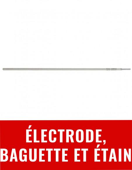 Electrode, baguette et étain