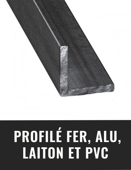 Profilé fer, alu, laiton et PVC