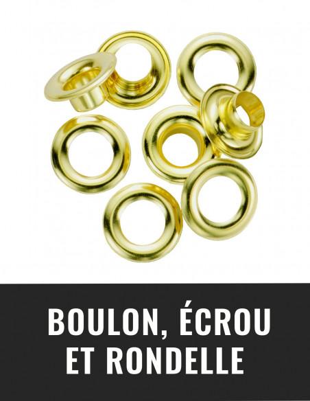 Boulon, écrou et rondelle
