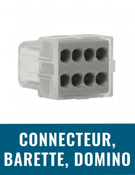 Connecteur, barrette, domino, borne